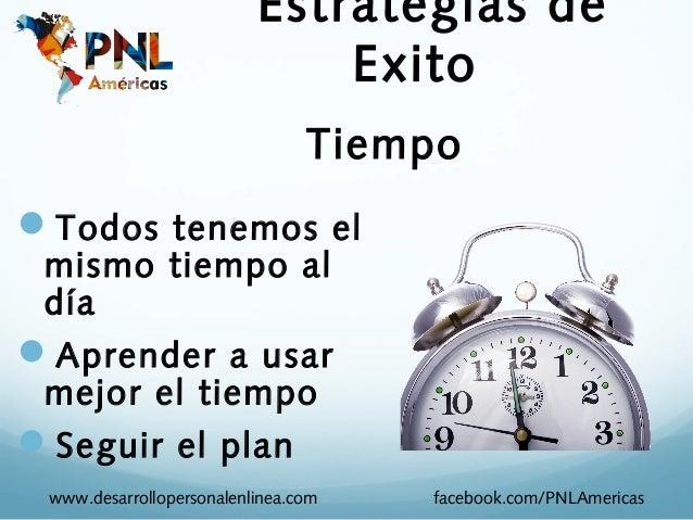 Estrategias de                              Exito                                TiempoTodos tenemos el mismo tiempo al d...