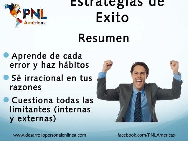 Estrategias de                               Exito                               ResumenAprende de cada error y haz hábit...