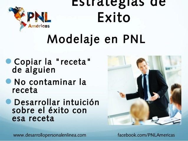 """Estrategias de                               Exito                Modelaje en PNLCopiar la """"receta"""" de alguienNo contami..."""