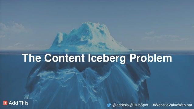 The Vegas Strip Problem The Content Iceberg Problem @addthis @HubSpot -- #WebsiteValueWebinar