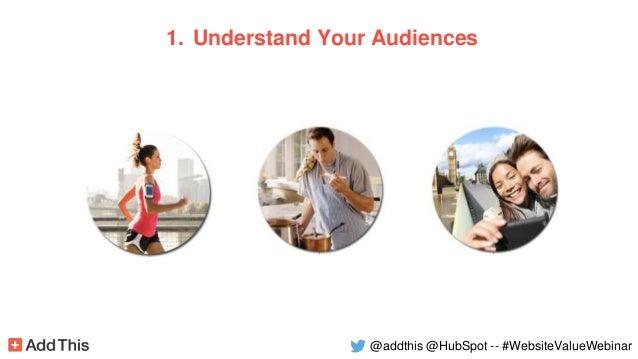 1. Understand Your Audiences @addthis @HubSpot -- #WebsiteValueWebinar