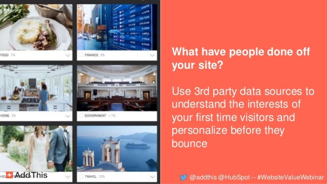 What have people done off your site? Use 3rd party data sources to understand the interests of your first time visitors an...