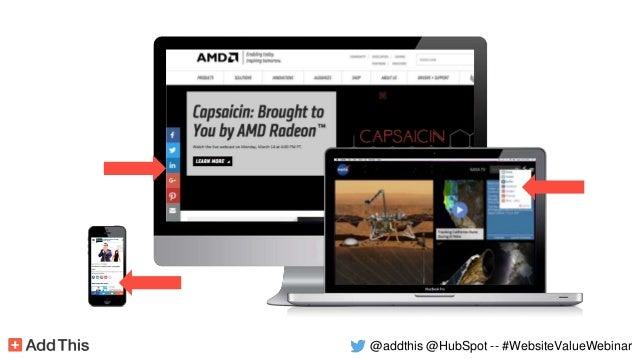 @addthis @HubSpot -- #WebsiteValueWebinar