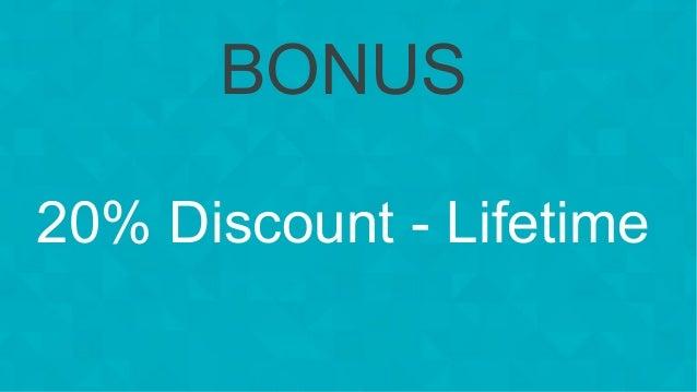 #wpewebinar BONUS 20% Discount - Lifetime