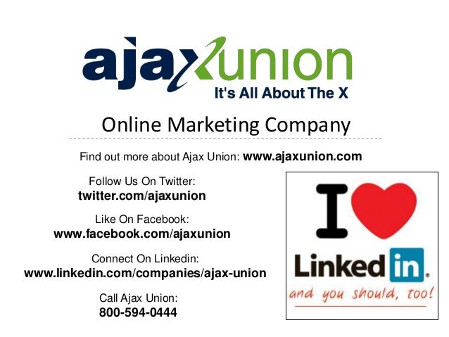 Online Marketing CompanyFind out more about Ajax Union: www.ajaxunion.comFollow Us On Twitter:twitter.com/ajaxunionLike On...