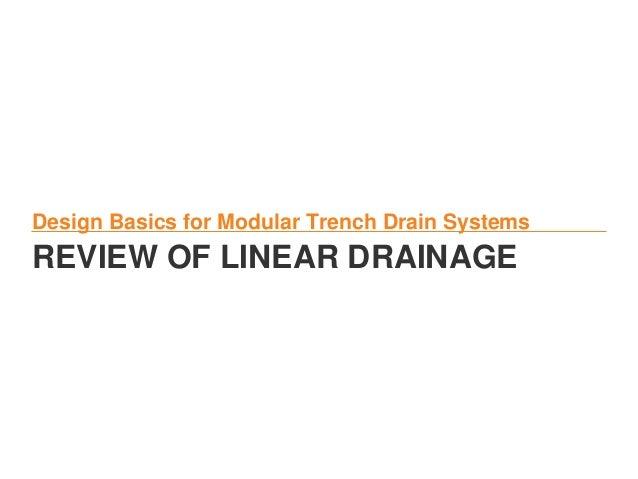 Keep It Running Surface Drainage 201 Design Basics
