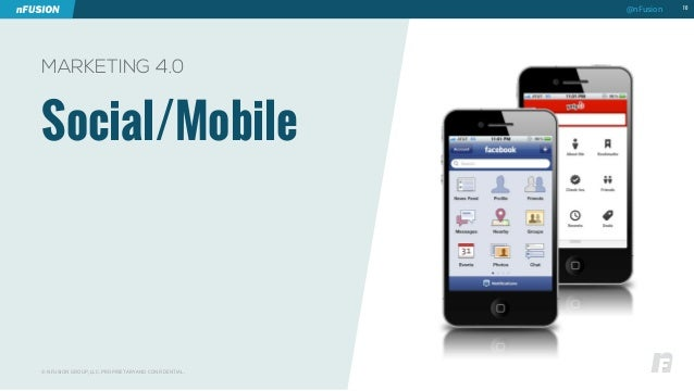 Social/Mobile  10  MARKETING 4.0  © NFUSION GROUP, LLC. PROPRIETARY AND CONFIDENTIAL.  @nFusion