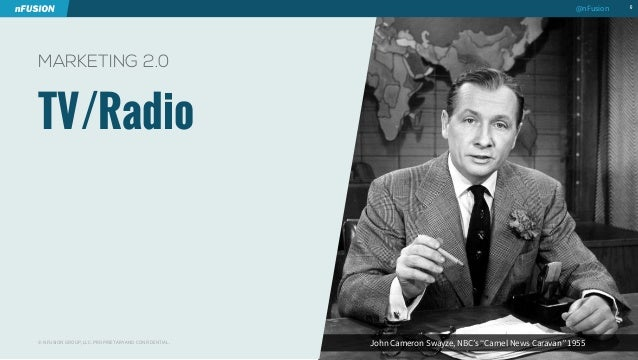 "John Cameron Swayze, NBC's ""Camel News Caravan"" 1955  TV/Radio  6  MARKETING 2.0  © NFUSION GROUP, LLC. PROPRIETARY AND CO..."
