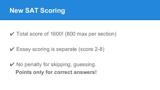 what does a score of 8 on the sat essay mean