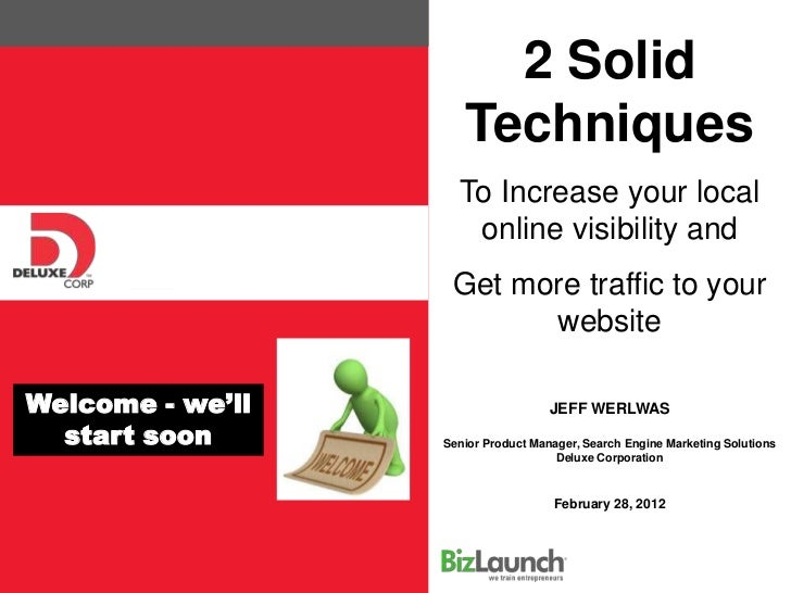 2 Solid                     Techniques                    To Increase your local                     online visibility and...