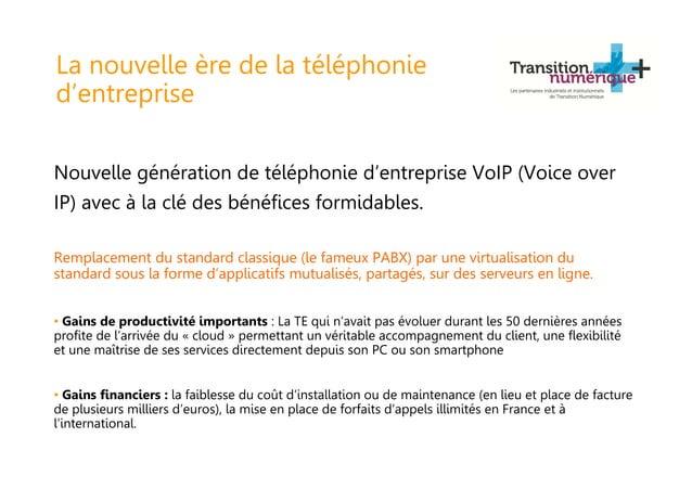 La nouvelle ère de la téléphonie d'entreprise Nouvelle génération de téléphonie d'entreprise VoIP (Voice over IP) avec à l...