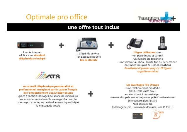 Webinar atn optimale pro office la t l phonie pro par orange - Orange optimale pro office ...