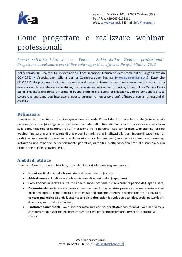 Kea s.r.l. | Via Strà, 102 | 37042 Caldiero (VR) Tel. / Fax: +39 045 6152381 Web: www.keanet.it | E-mail: info@keanet.it 1...