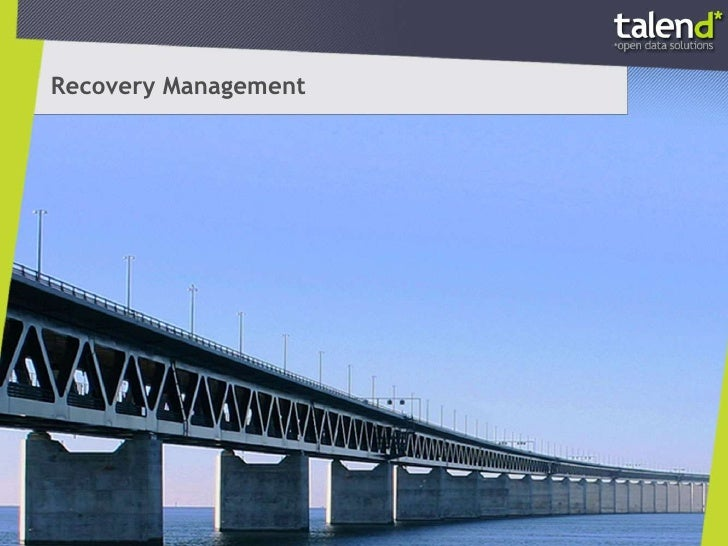 Recovery Management with Talend