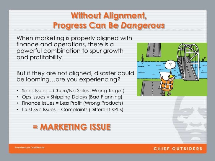 Without Alignment, Progress Can Be Dangerous<br />When marketing is properly aligned with finance and operations, there is...