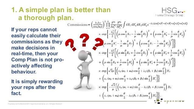 Show me the money Sales compensation plans that wont fail – Simple Sales Plan