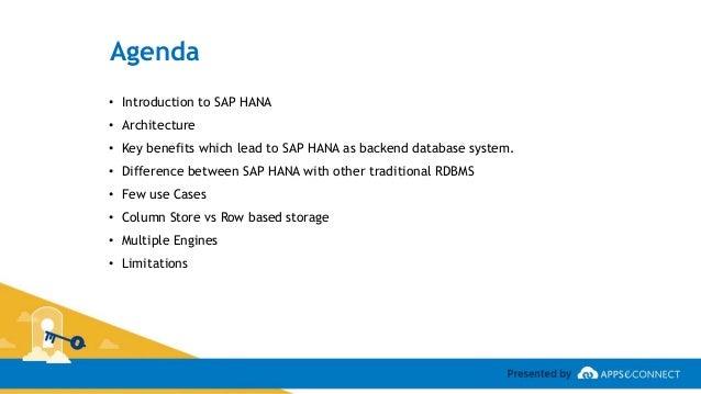 Webinar: SAP HANA - Features, Architecture and Advantages