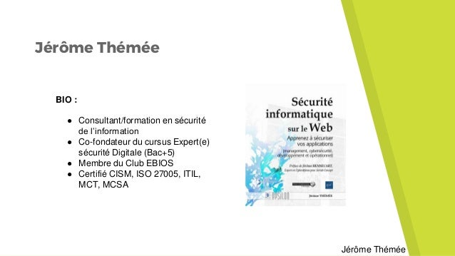 Webinaire Securite Informatique Sur Le Web Jerome Themee