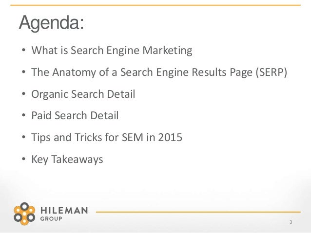 ... 3. Agenda: 3 • What is Search ...