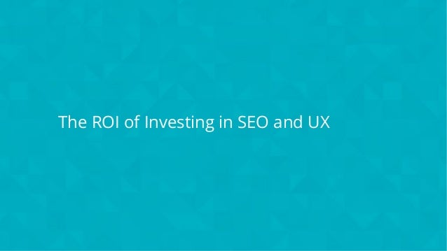 #wpewebinar The ROI of Investing in SEO and UX