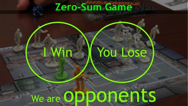 Zero-Sum Game We are opponents I Win You Lose