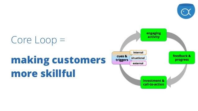 Core Loop = making customers more skillful