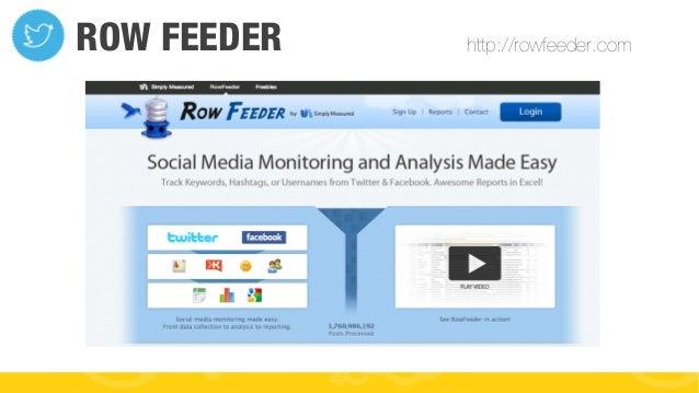 #FormaciónEBusiness ROW FEEDER http://rowfeeder.com