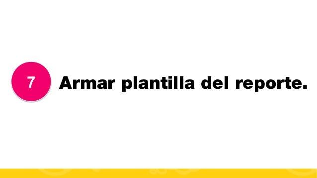 #FormaciónEBusiness 7 Armar plantilla del reporte.