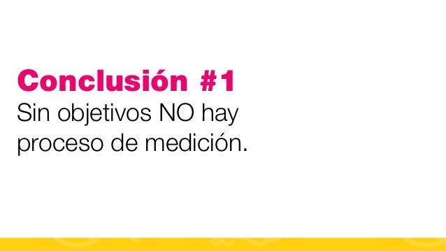 #FormaciónEBusiness Conclusión #1 Sin objetivos NO hay proceso de medición.