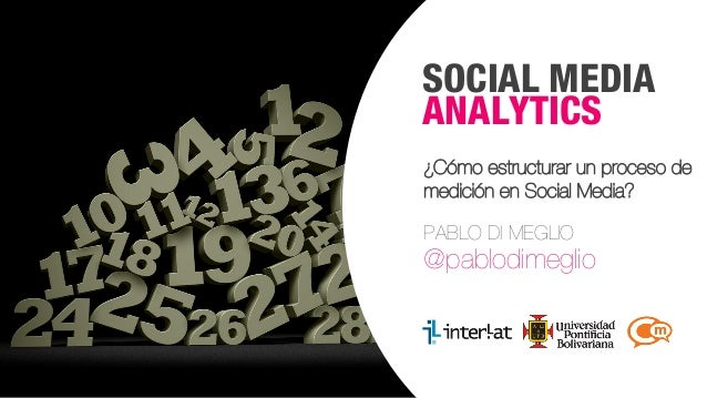 SOCIAL MEDIA ANALYTICS ¿Cómo estructurar un proceso de medición en Social Media? PABLO DI MEGLIO  @pablodimeglio  #Formaci...