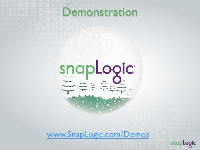 Demonstration  www.SnapLogic.com/Demos