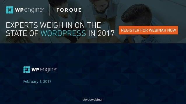 #wpewebinar February 1, 2017 #wpewebinar