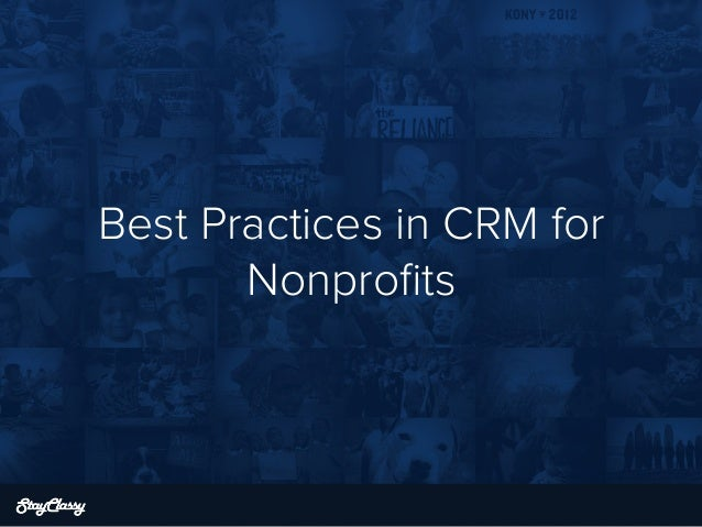 Best Practices in CRM for Nonprofits