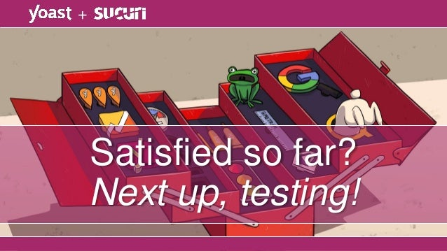 Satisfied so far? Next up, testing! +