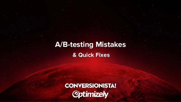 A/B-testing Mistakes & Quick Fixes