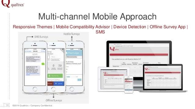 ©2014 Qualtrics – Company Confidential Multi-channel Mobile Approach 51 Responsive Themes | Mobile Compatibility Advisor |...