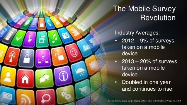 7/18/201 47 ©2013 Qualtrics – Company Confidential The Mobile Survey Revolution Industry Averages: • 2012 – 9% of surveys ...