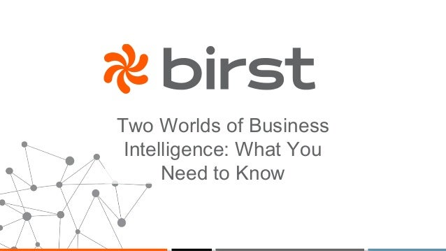 Two Worlds of Business Intelligence: What You Need to Know