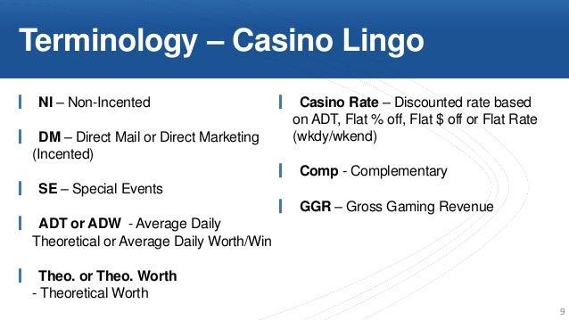 Casino terminology pepper casino