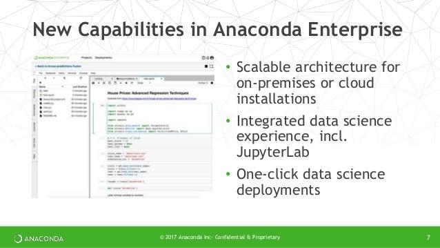Unveiling Anaconda Enterprise–The Data Science Platform for