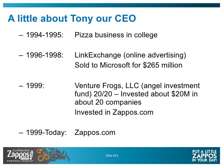 A little about Tony our CEO <ul><ul><li>1994-1995: Pizza business in college </li></ul></ul><ul><ul><li>1996-1998: LinkExc...