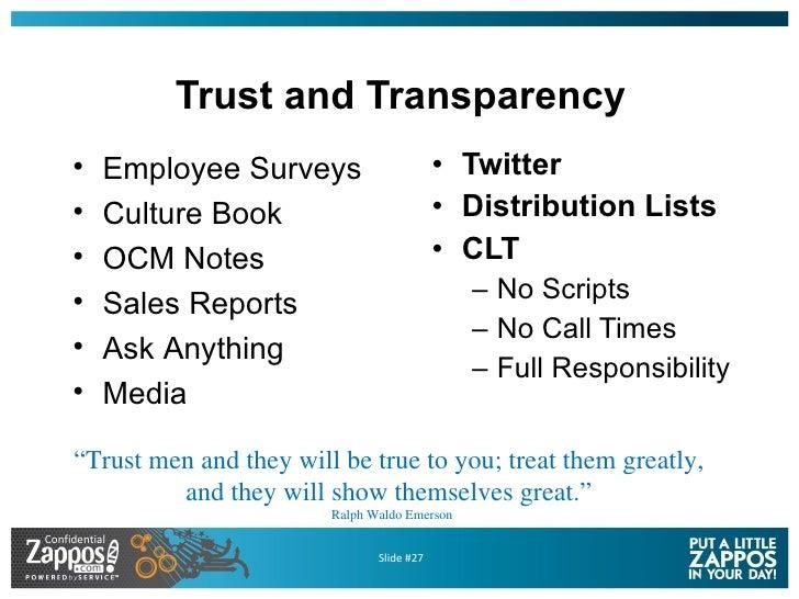 Trust and Transparency <ul><li>Twitter </li></ul><ul><li>Distribution Lists </li></ul><ul><li>CLT </li></ul><ul><ul><li>No...