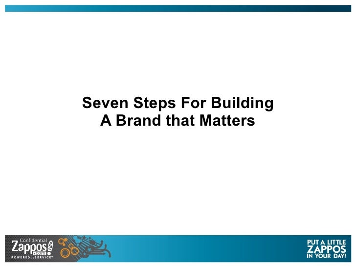 Seven Steps For Building A Brand that Matters