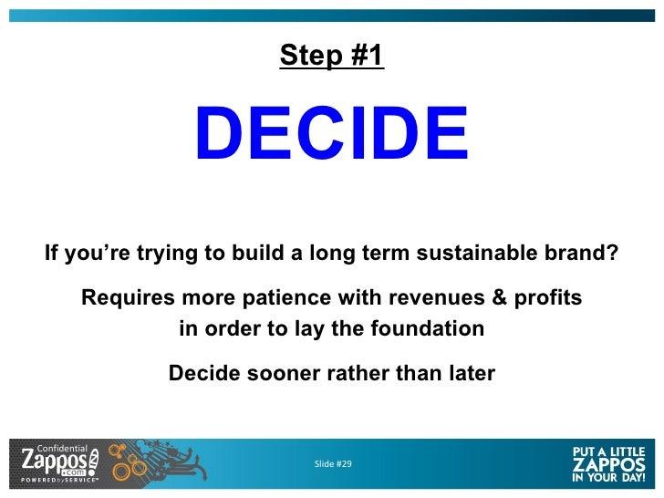 Step #1 <ul><li>DECIDE </li></ul><ul><li>If you're trying to build a long term sustainable brand? </li></ul><ul><li>Requir...