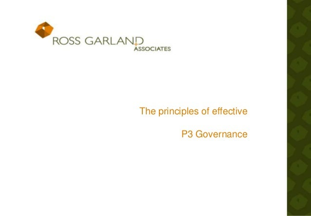 The principles of effective P3 Governance