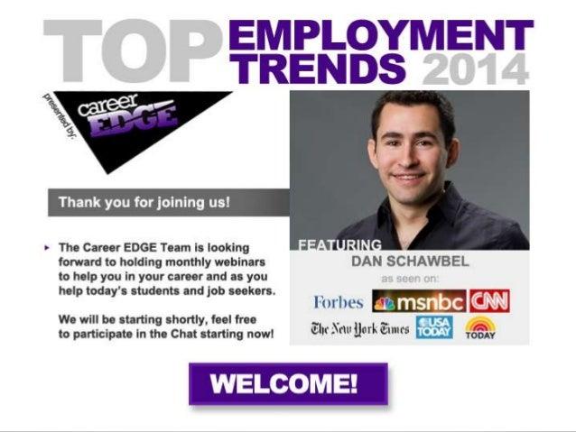 #1: Social Recruiting • 94% of companies do social recruiting. • 31% of college admissions officers do social recruiting. ...