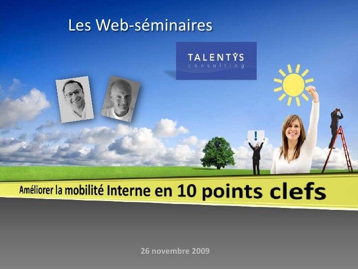 Les Web-séminaires<br />