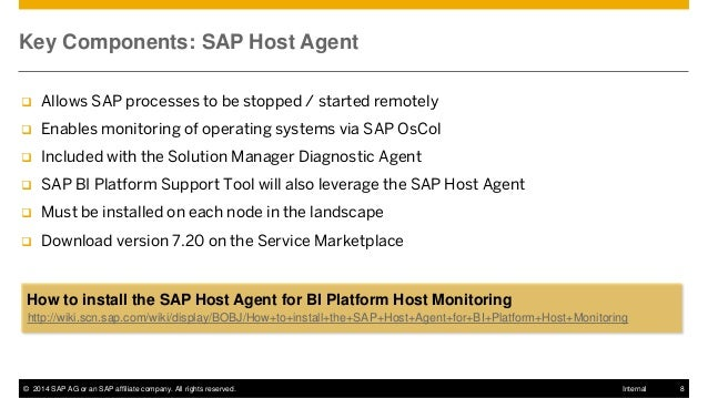 SAP #BOBJ #BI 4 1 Upgrade Webcast Series 12: Monitoring