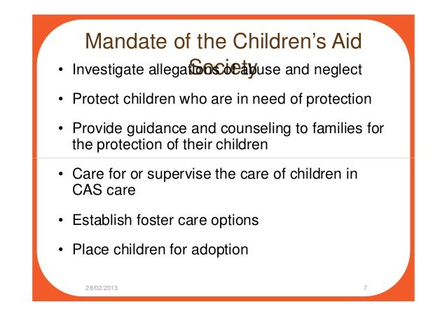 Dealing with the Children's Aid Society: What Parents Should