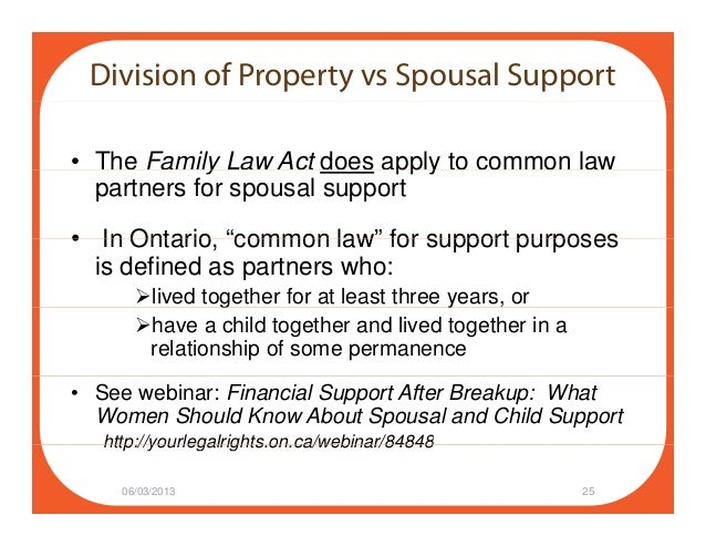 Common law marriage rights in ontario